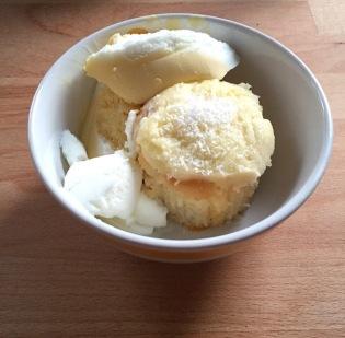 Coconut cake and icecream