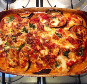 cooked aubergine bake
