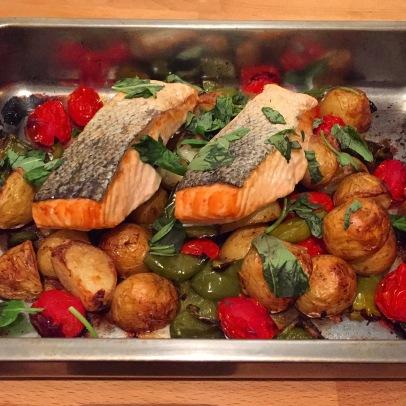 Salmon traybake 2